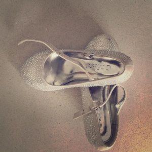 Girls Size 13 Silver Rhinestone Heels!!